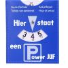 Parkeerschijf - Voor de Power Juf - Einde schooljaar cadeau - Juffen dag cadeau - Naam cadeau - Gepersonaliseerd cadeau