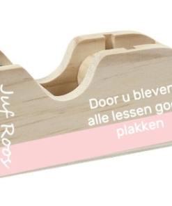 Plakband houder - Lessen blijven plakken - Einde schooljaar cadeau - Juffen cadeau - Juffen dag - cadeau voor de meester