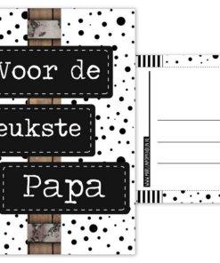 Cadeau set - Button opener met magneet met tekst 'voor de leukste papa' - Vaderdag cadeau - Cadeau voor papa - Bella Kids