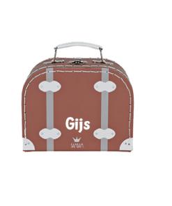 BamBam Reiskoffer Small - Bruin - Kinderkoffer - Kraam cadeau - geboorte cadeau - gepersonaliseerd speelgoed- Naam cadeau
