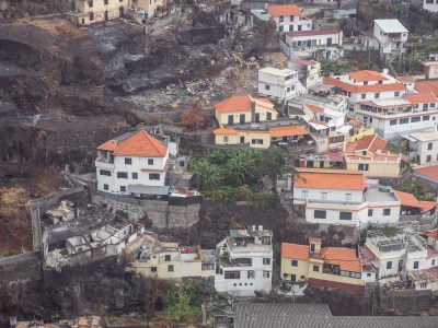 The wildfires came down in the outskirts of Funchal