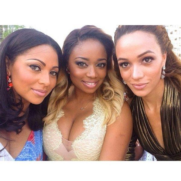 "Lola Omotayo Okoye Tracy Eku Edewor 600x600 Tiwa Savage & Tunji ""Tee Billz"" Balogun's Star Studded Dubai Wedding! Celebs & Gorgeous Guests"