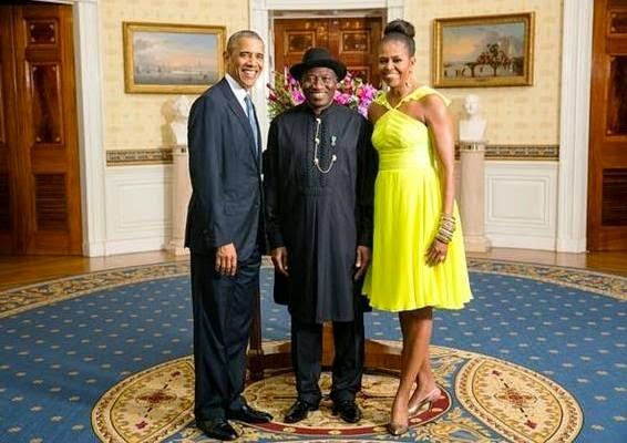 President Jonathan with the Obamas - August 2014 - BellaNaija.com 01