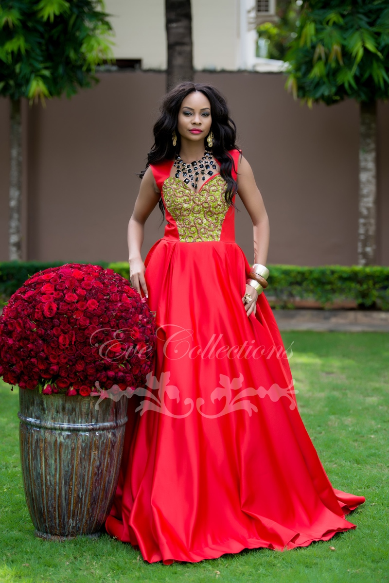 Maxi Low Dress High Red