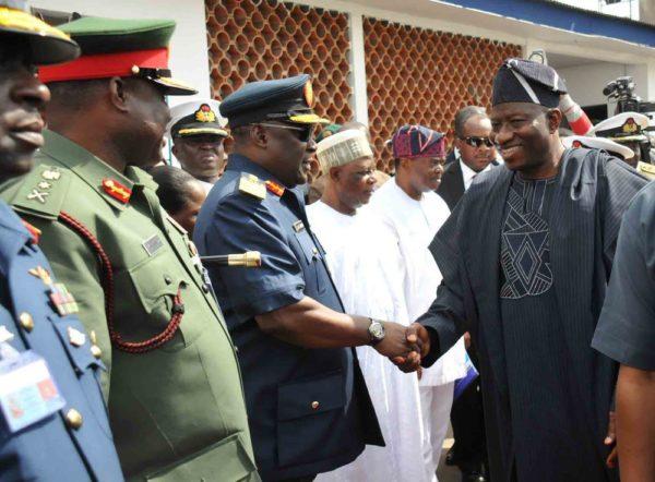 PIC. 6. INAUGURATION OF 4 NAVAL WARSHIPS IN LAGOS1 600x442 Pres. Jonathan Inaugurates 4 Nigerian Navy Ships | Promises to Conquer Boko Haram