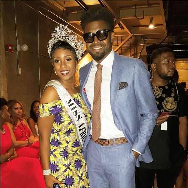 Miss Africa USA and Basketmouth