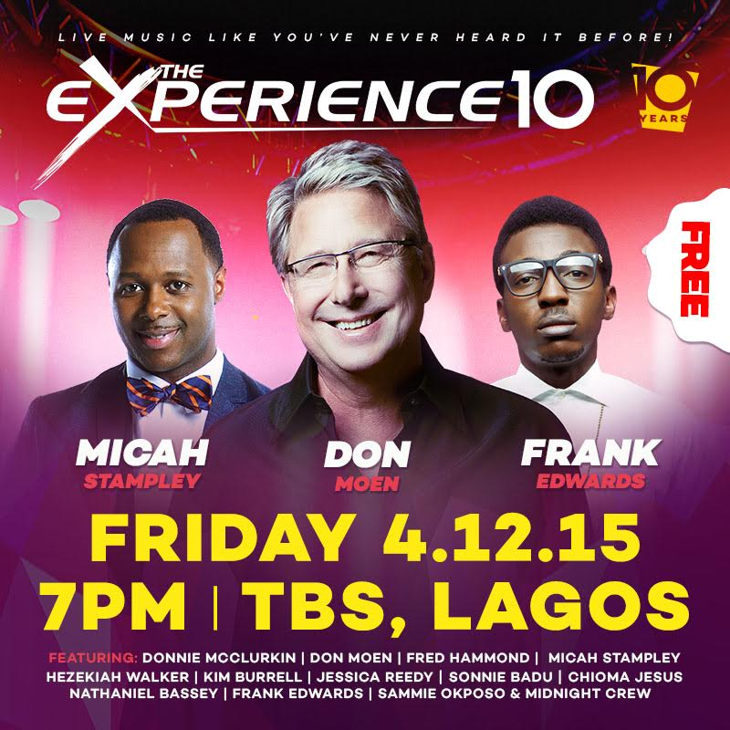 """Image result for Gospel musicians to thrill Nigerians at """"The Experience"""""""