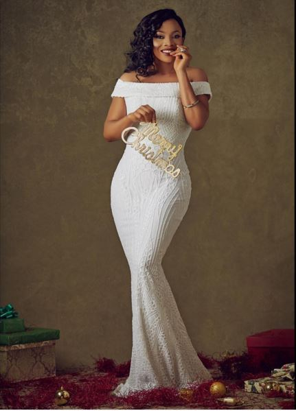 Toke Makinwa Stuns In New Christmas Photos, Entertainment, Celebs, Toke Makinwa,
