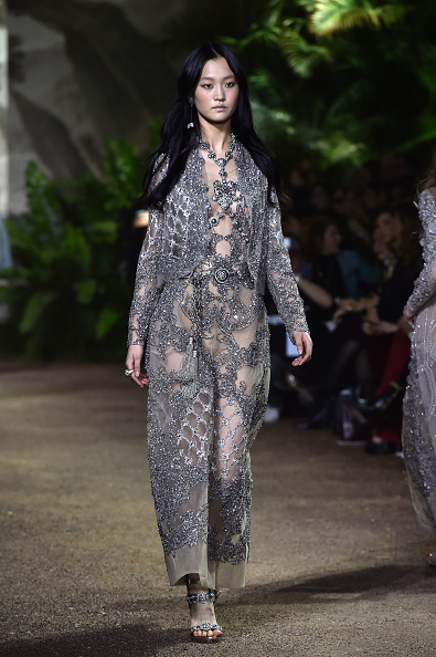 PARIS, FRANCE - JANUARY 27: A model walks the runway during the Elie Saab Spring Summer 2016 show as part of Paris Fashion Week on January 27, 2016 in Paris, France. (Photo by Pascal Le Segretain/Getty Images)