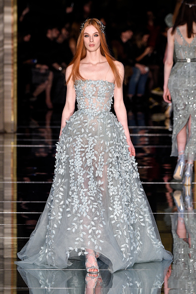 PARIS, FRANCE - JANUARY 27: A model walks the runway during the Zuhair Murad Spring Summer 2016 show as part of Paris Fashion Week on January 27, 2016 in Paris, France. (Photo by Peter White/Getty Images)