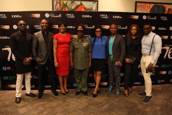 L-R Willis,Tonye Princewill, Wangi Mba Uzoukwu, Major General Nicholas Rogers, Rita Dominic, Adonijah Owiriwah, Daniel K Daniel