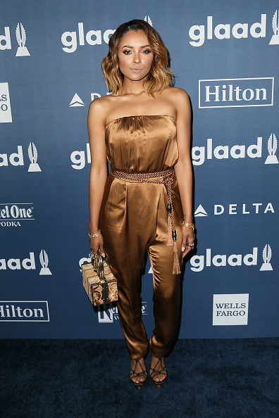BEVERLY HILLS, CALIFORNIA - APRIL 02: Actress Kat Graham arrives at the 27th Annual GLAAD Media Awards at The Beverly Hilton Hotel on April 2, 2016 in Beverly Hills, California.  (Photo by David Livingston/Getty Images)