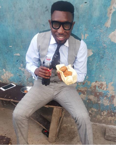 TImi-Dakolo-Bread-nad-Akara Photo: Timi Dankolo Pictured Eating Bread And Akara