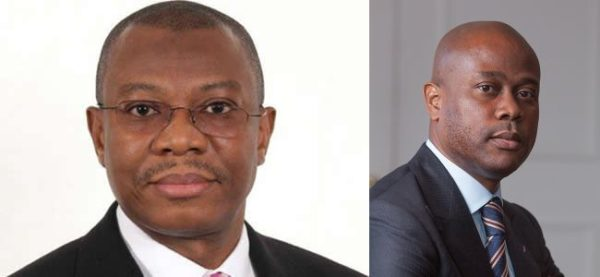 Yemi Adeola of Sterling Bank and Herbert Wigwe of Access Bank