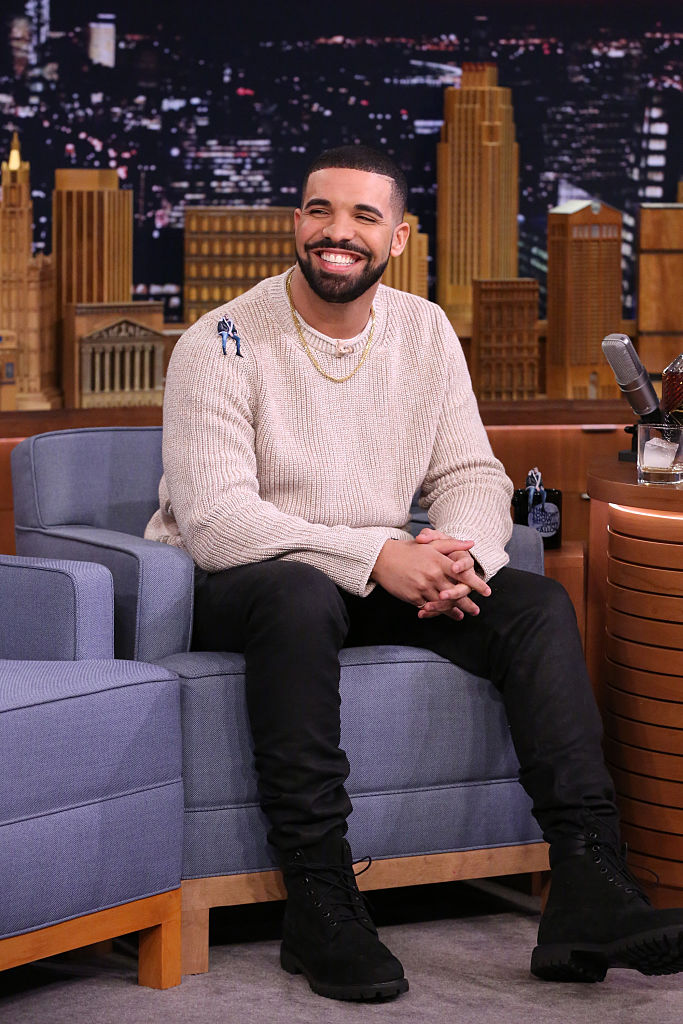 THE TONIGHT SHOW STARRING JIMMY FALLON -- Episode 0470 -- Pictured: Rapper Drake during an interview on May 12, 2016 -- (Photo by: Andrew Lipovsky/NBC/NBCU Photo Bank via Getty Images)