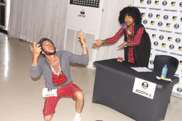 Denrele and a contestant