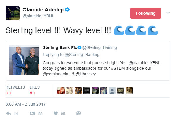 BellaNaija - Wavy! Olamide signed on as Sterling Bank Brand Ambassador