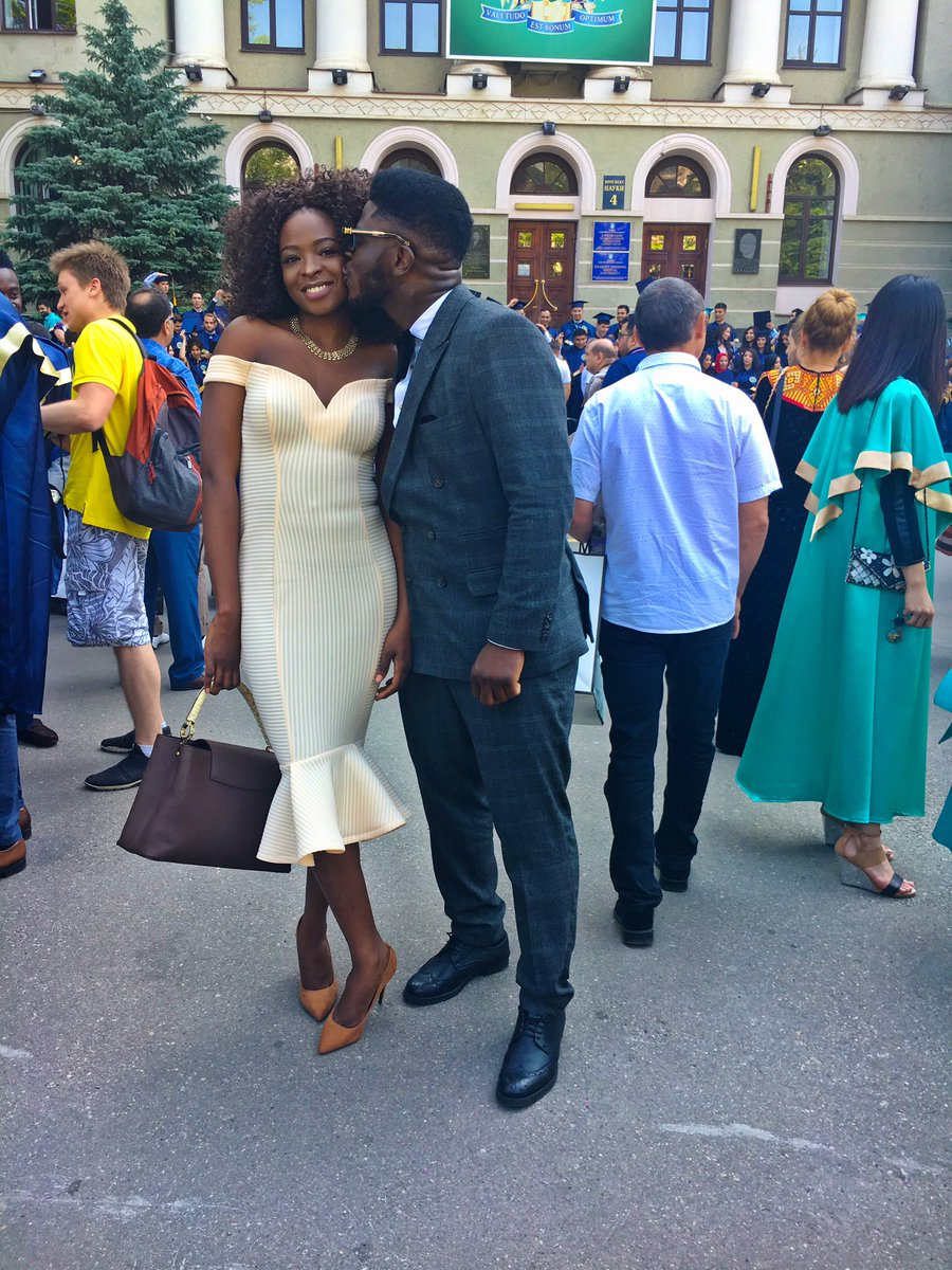 "BellaNaija - ""My best part of Ukraine experience"" - Craze Clown shares lovely Graduation Photos with Girlfriend"