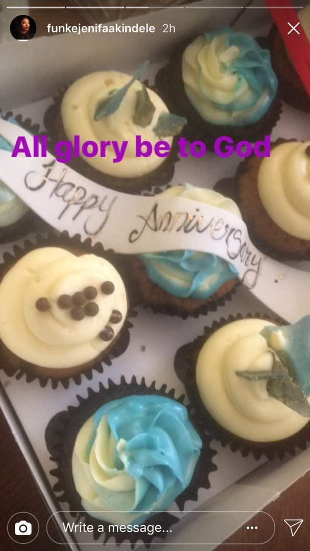 Funke Akindele Bello JJC Skillz Anniversary4 - Funke Akindele Bello & JJC Skillz Celebrate First Wedding Anniversary