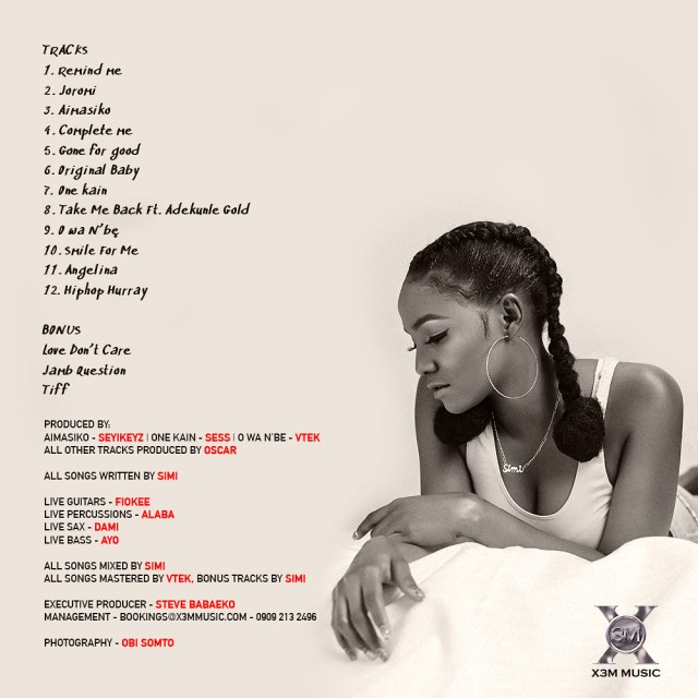21148102 333069657138611 3032936738558312448 n - Simi unveils Official Tracklist for her Album