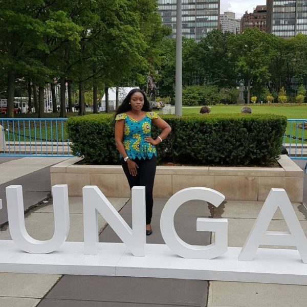 #BBNaija's Bisola at UN General Assembly, attends Bill & Melinda Gates' Goalkeepers Event - BellaNaija
