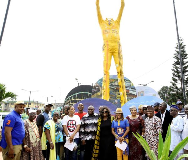 Lagos State unveils Statue in honour of Fela in Ikeja - BellaNaija