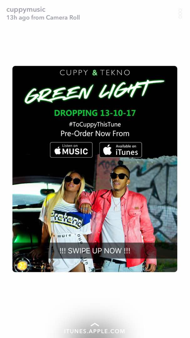 "It's a surprise! DJ Cuppy reveals Joint Album with Tekno ""Green Light"" - BellaNaija"
