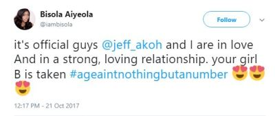 I'm in a strong and loving relationship with Jeff Akoh - #BBNaija's Bisola