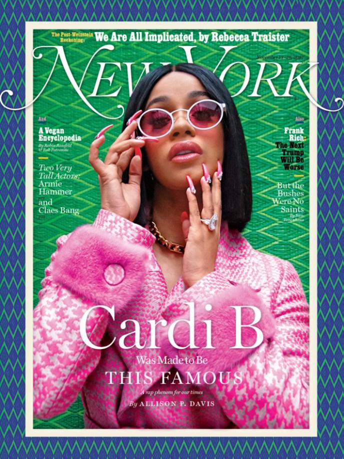 Cardi B discusses Feminism & Carrying Guns as she covers New York Magazine - BellaNaija