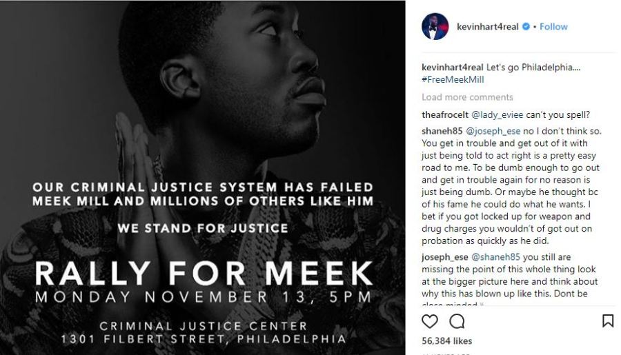 #Rally4Meek: Wale, Kevin Hart to join protest against Meek Mill incarceration