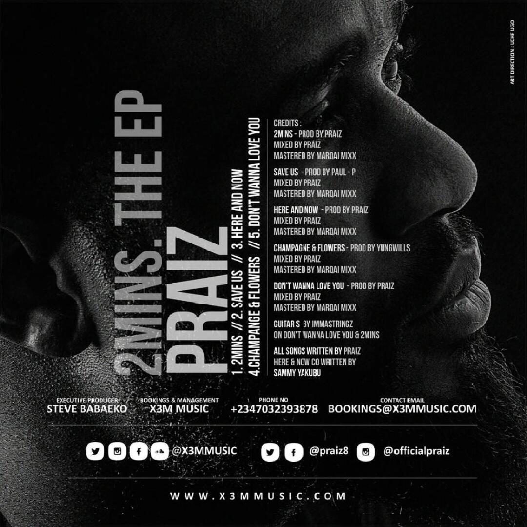 "Praiz unlocks New EP ""2 Mins"" to Celebrate Valentine's Day"