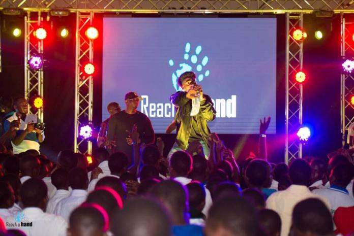 Korede Bello speaks and performs at Women's Day Outreach in Uganda