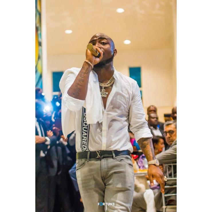 Davido performs in Sierra Leone at Presidential Inauguration