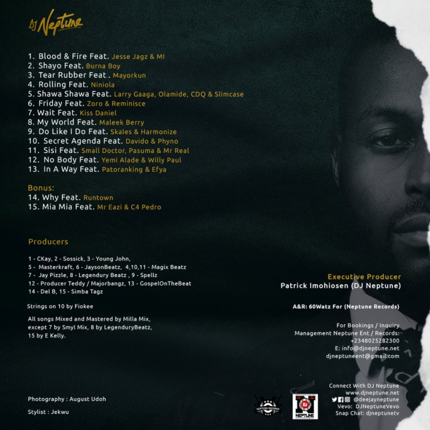 """""""Greatness"""" Soon Come! DJ Neptune releases Artwork & Tracklist for Forthcoming Album"""