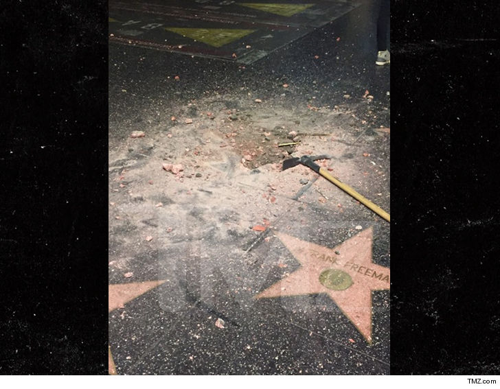Trump's Hollywood Walk Star Destroyed Again By Unknown Man