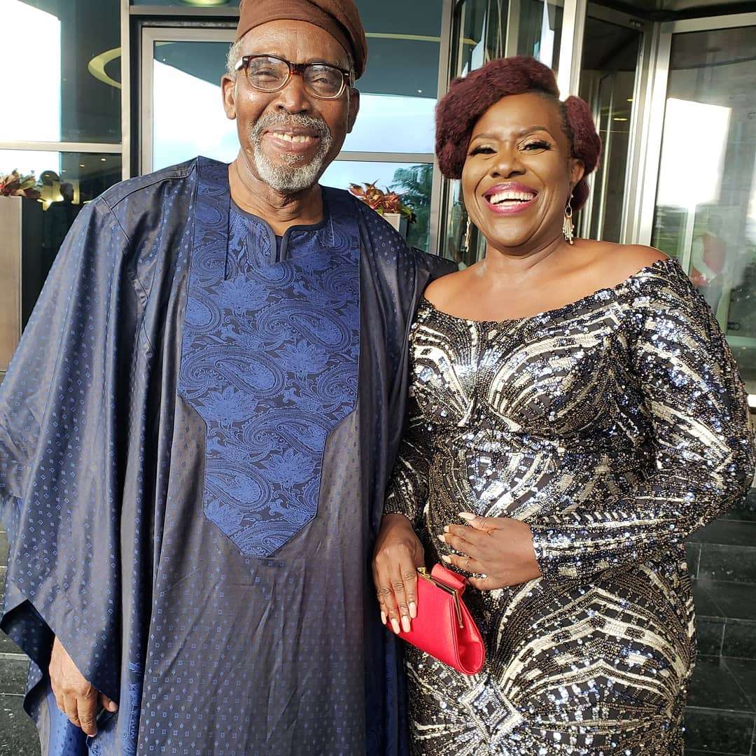 """Loads of love king of my heart"": Joke Silva Celebrates Olu Jacobs at 77"