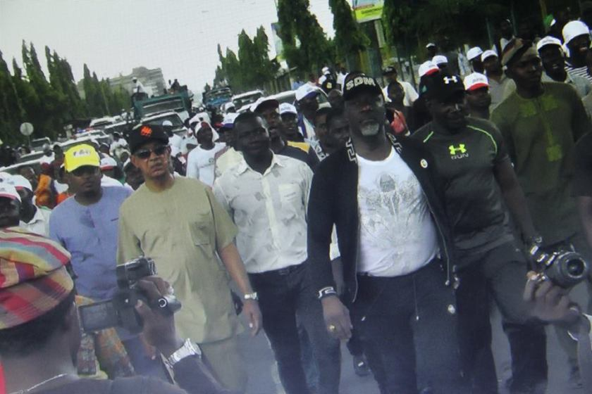 Image result for saraki melaye protest