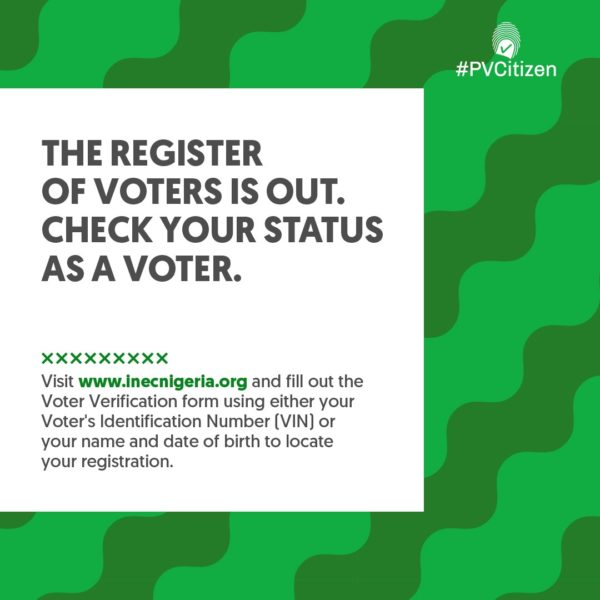#PVCitizen: Check the Voters Register to Confirm Your Registration | BellaNaija