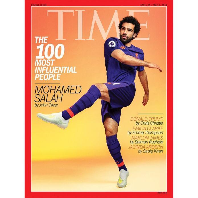 Mohammed Salah for time's magazine