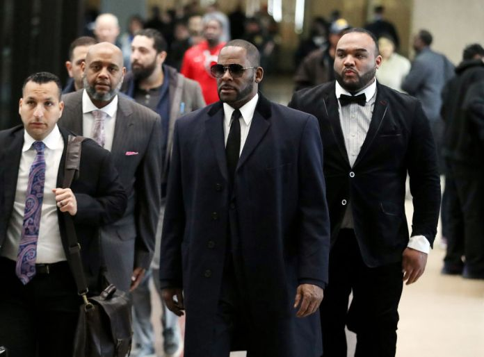 CHICAGO, ILLINOIS – MAY 07: Singer R. Kelly arrives at the Leighton Courthouse for his status hearing in relation to the sex abuse allegations made against him on May 07, 2019 in Chicago, Illinois. (Photo by Nuccio DiNuzzo/Getty Images)
