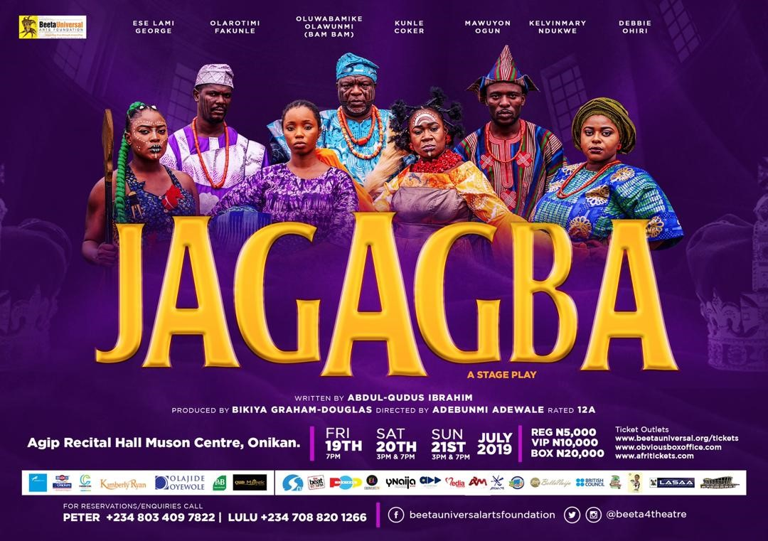"Bam Bam, Kunle Coker, Mawuyon Ogun to star in ""Jagagba"", an Award-winning Play by BUAF | July 19th"