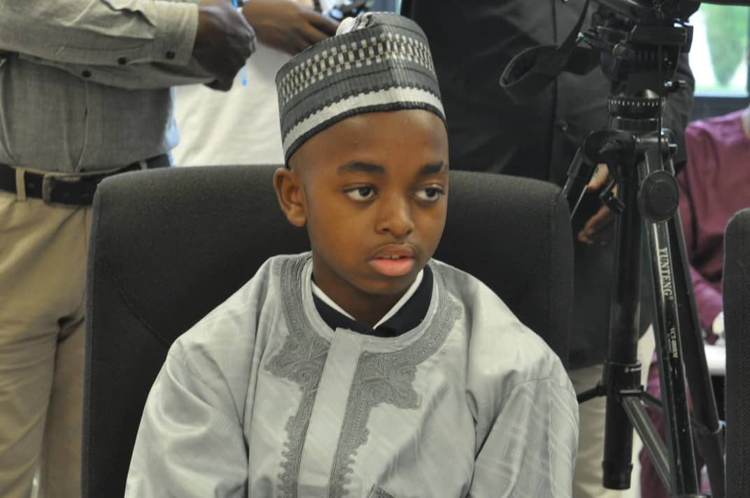 14-12 months Old Genius Joshua Beckford meets Kaduna Deputy Governor, discusses School Building Project