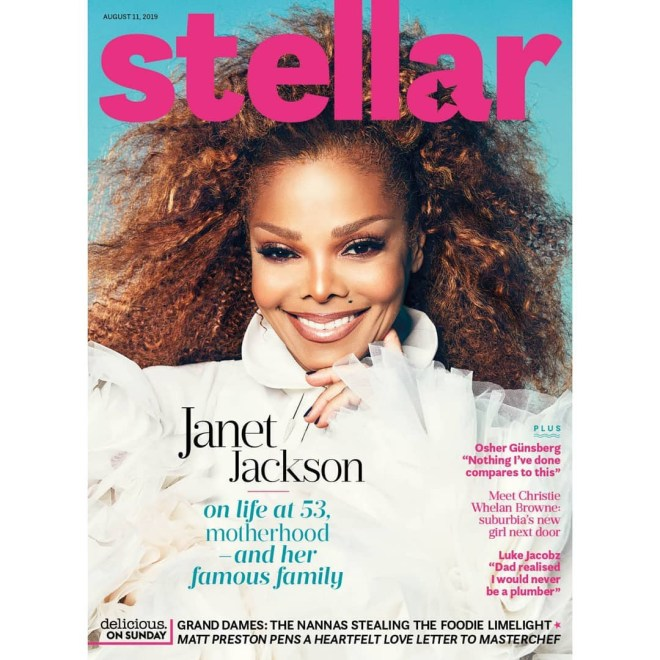 Janet Jackson on Stellar Magazine