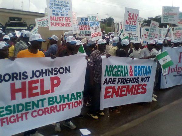Groups Protest at British Embassy over $9 Billion Judgement against Nigeria