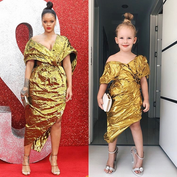 5-Year Old Instagram Sensation Recreates Rihanna's Iconic Fashion Moments & It's Beyond Adorable