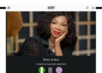 Betty Irabor, Kenneth Ize Named in Business of Fashion's #BoF500 Class of 2019