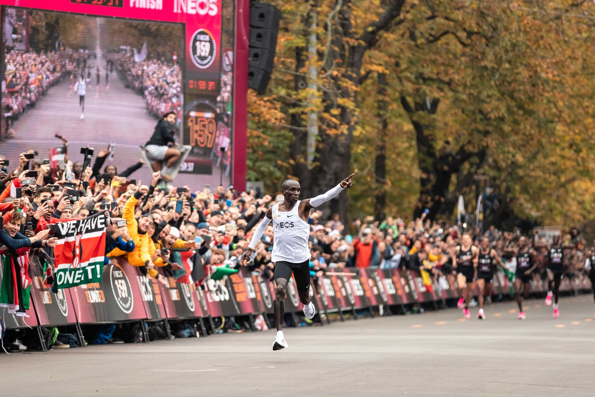 Kenya's Eliud Kipchoge Turns into first Individual to End a Marathon Underneath 2 Hours