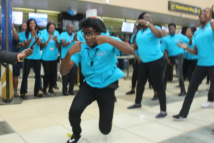 You Spin, You Win + You Get to Expertise a Flash Mob at MMIA, Lagos! Right here's How KLM Celebrated its 100th Birthday – #KLM100