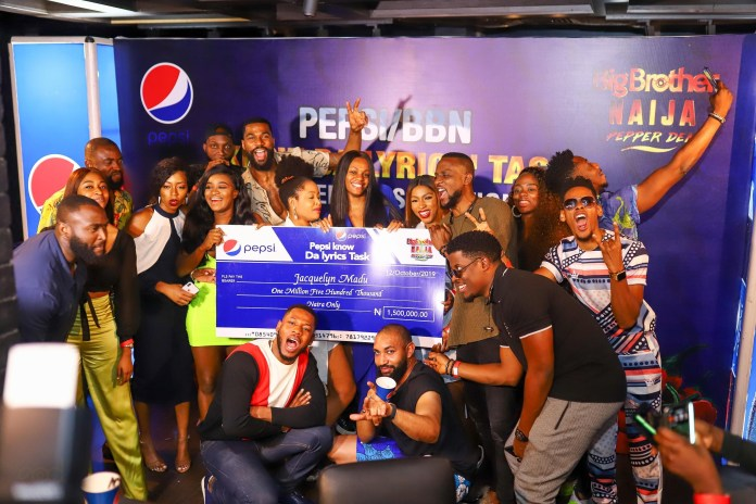 #BBNaija Jackye will get N1.5million + All Expense Paid Journey to One Africa Music Fest in Dubai for profitable the Pepsi 'Know da Lyrics' Process