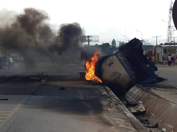 Gasoline tanker explodes in Onitsha Market, Lives and Properties Misplaced